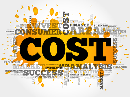 costs: Cost word cloud, business concept