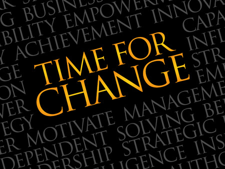 modernize: Time for change word cloud, business concept