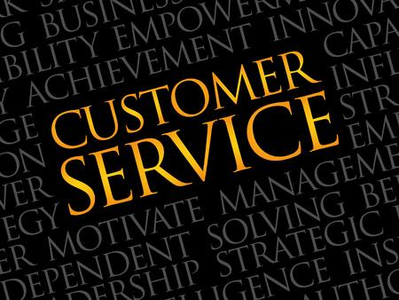 hotline: Customer Service word cloud, business concept