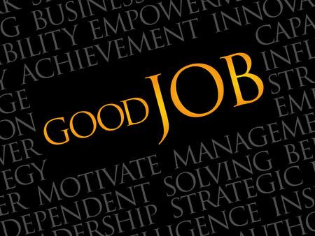 Good Job word cloud, business concept Illustration