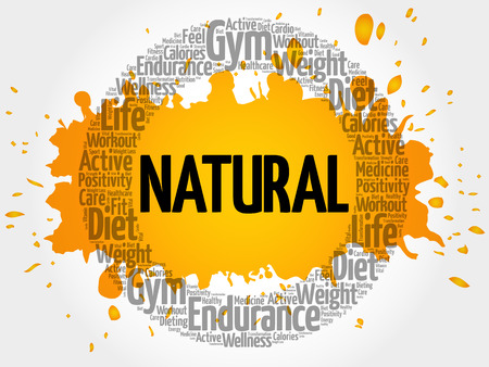 NATURAL circle stamp word cloud, fitness, sport, health concept