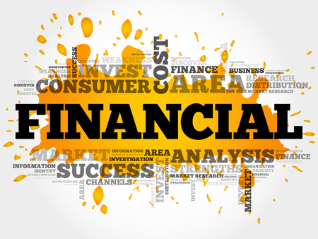 FINANCIAL word cloud collage, business concept background