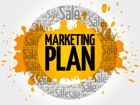 keyword research: Marketing Plan stamp words cloud, business concept background
