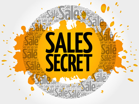 Sales Secret words cloud, business concept background Illustration