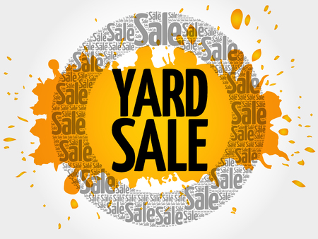 YARD SALE words cloud, business concept background Illustration