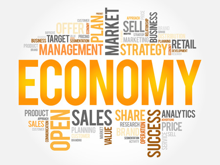 ECONOMY word cloud, business concept background