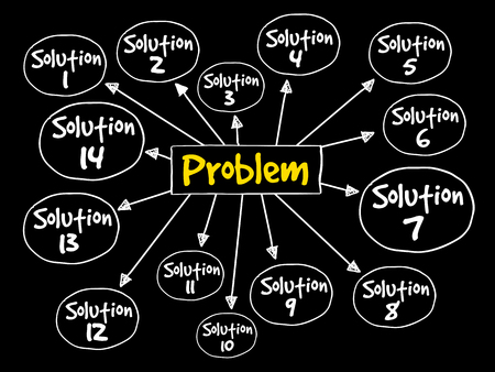 Probleemoplossend de menings bedrijfsconcept van de hulpmening