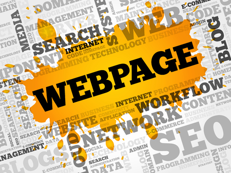 html: Webpage word cloud, business concept Illustration