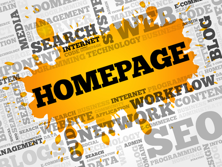 xml: Homepage word cloud, business concept