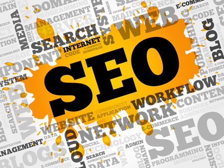 html: SEO (search engine optimization) word cloud business concept