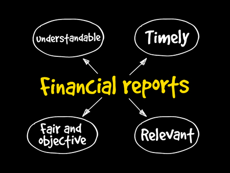 Financial reports mind map, business concept Stock Vector - 85211865