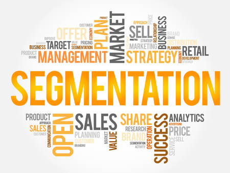 Segmentation word cloud, business concept 向量圖像