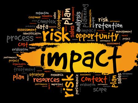 影響を与える単語の雲、ビジネス コンセプト