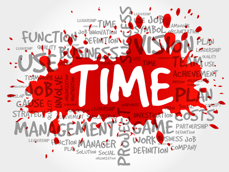TIME word cloud collage, business concept background