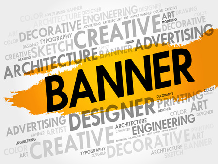 BANNER word cloud, creative business concept background