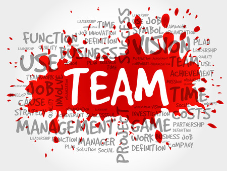 TEAM word cloud collage, business concept background Illustration