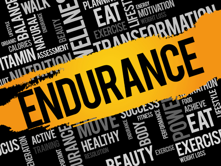 ENDURANCE word cloud, fitness, sport, health concept
