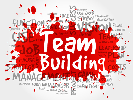 Team Building word cloud.