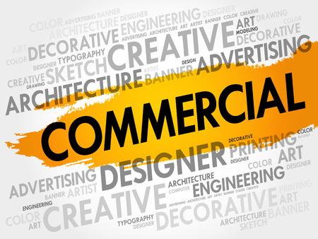 encoding: COMMERCIAL word cloud, business concept