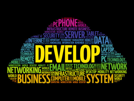 potential: Develop word cloud collage, technology concept background