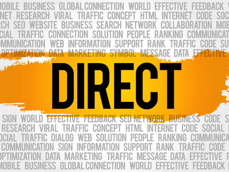 DIRECT word cloud collage, business concept background