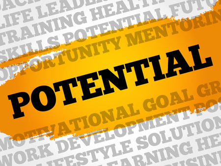 potential: Potential word cloud collage, business concept background