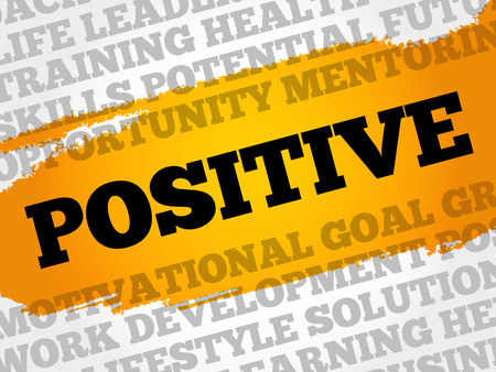 POSITIVE word cloud collage, business concept background
