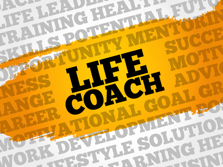 potential: Life coach word cloud collage, business concept background