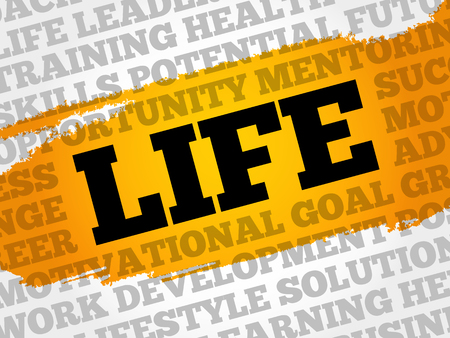 potential: Life word cloud, business concept Illustration