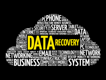 Data Recovery word cloud collage, business concept design. Illustration