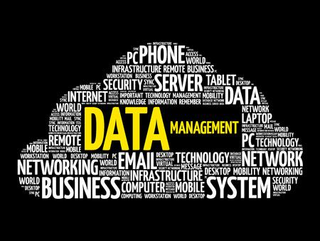 Data Management word cloud collage, business concept design.