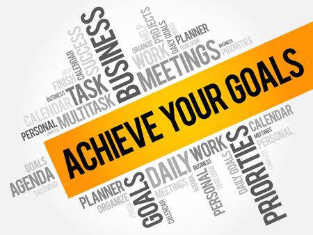 Achieve Your Goals word cloud business concept Illustration