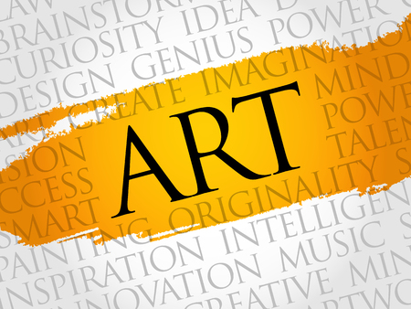 ART word cloud, creative business concept background