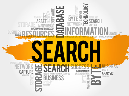 seo: SEARCH word cloud collage, business concept background