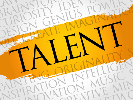 Talent word cloud collage, creative business concept background