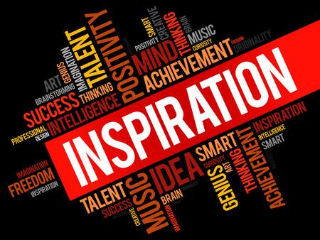 Inspiration word cloud.