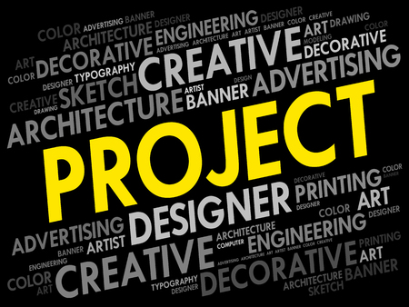 Project word cloud. Illustration