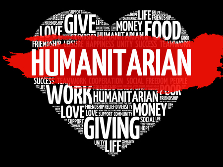 Humanitarian word cloud.