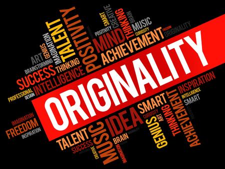 Originality word cloud.