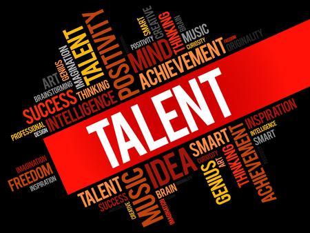 potential: Talent word cloud. Illustration