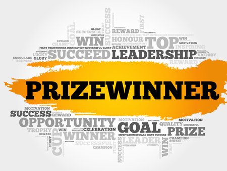 triumphant: Prizewinner word cloud, business concept Illustration
