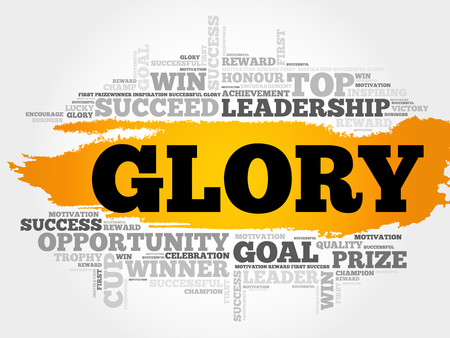 admirable: Glory word cloud, business concept