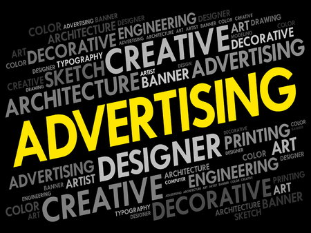 ADVERTISING word cloud, creative business concept background