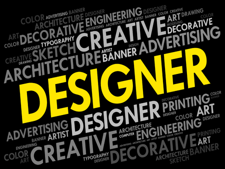 webdesigner: Designer word cloud. Illustration
