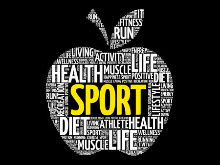 fitness equipment: Sport word cloud.