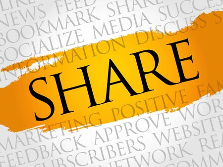 wiki: SHARE word cloud technology business concept.