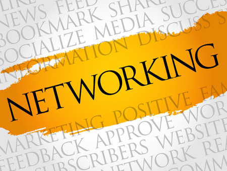 Networking word cloud technology business concept.