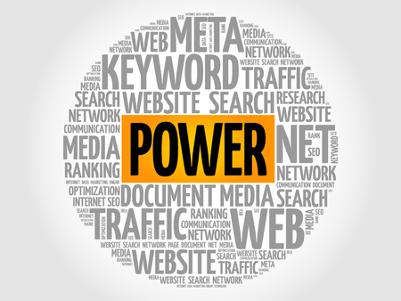 POWER word cloud collage business concept. Illustration