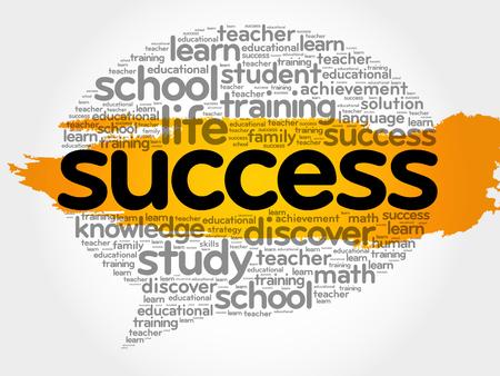 Success Think Bubble word cloud, business concept vector illustration.