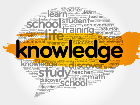 school strategy: Knowledge think bubble word cloud, business concept vector illustration.